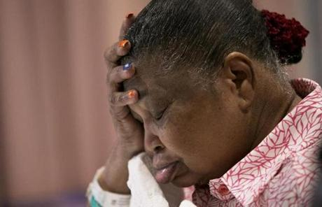 Zilania Joacin, 71, of Haiti has been at Spaulding Hospital Cambridge for treatment after the 2010 earthquake.